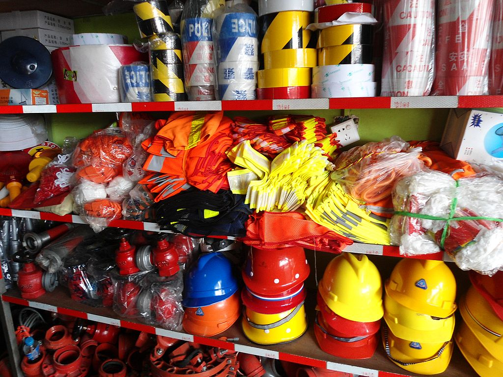 Be sure to stock up on essential Safety Supplies for your business ... photo by CC user Anna Frodesiak via wikimedia commons